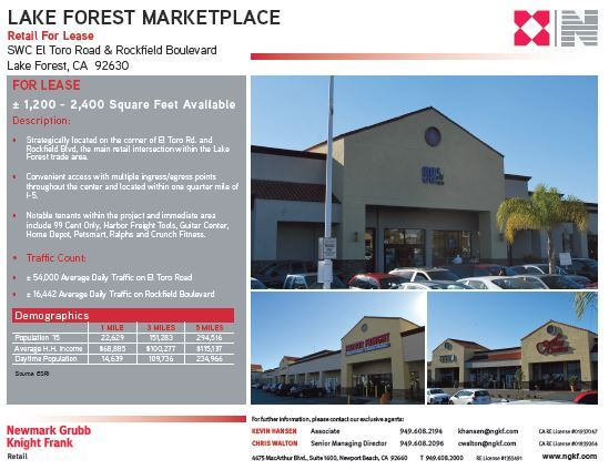 Lake Forest Marketplace Brochure