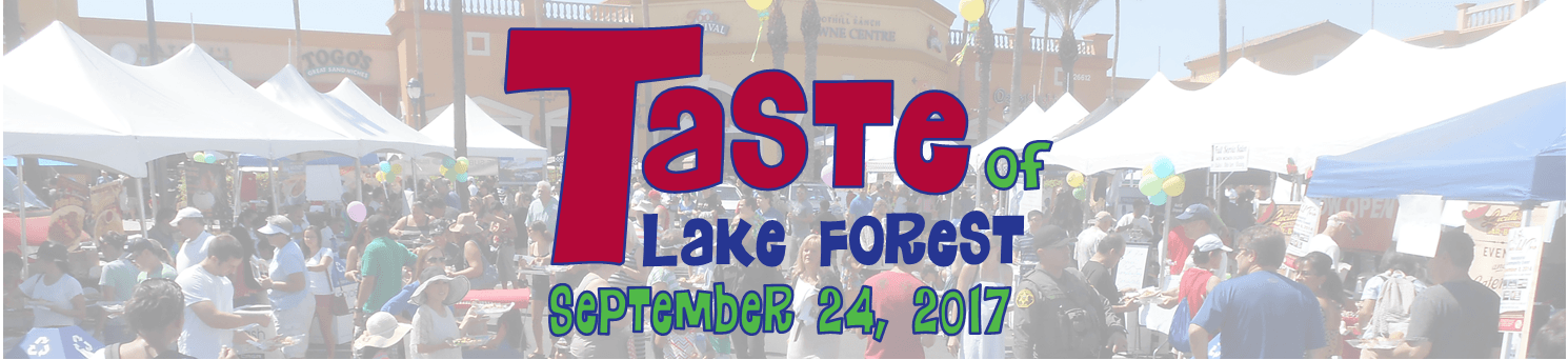 Taste of Lake Forest Website Banner 1
