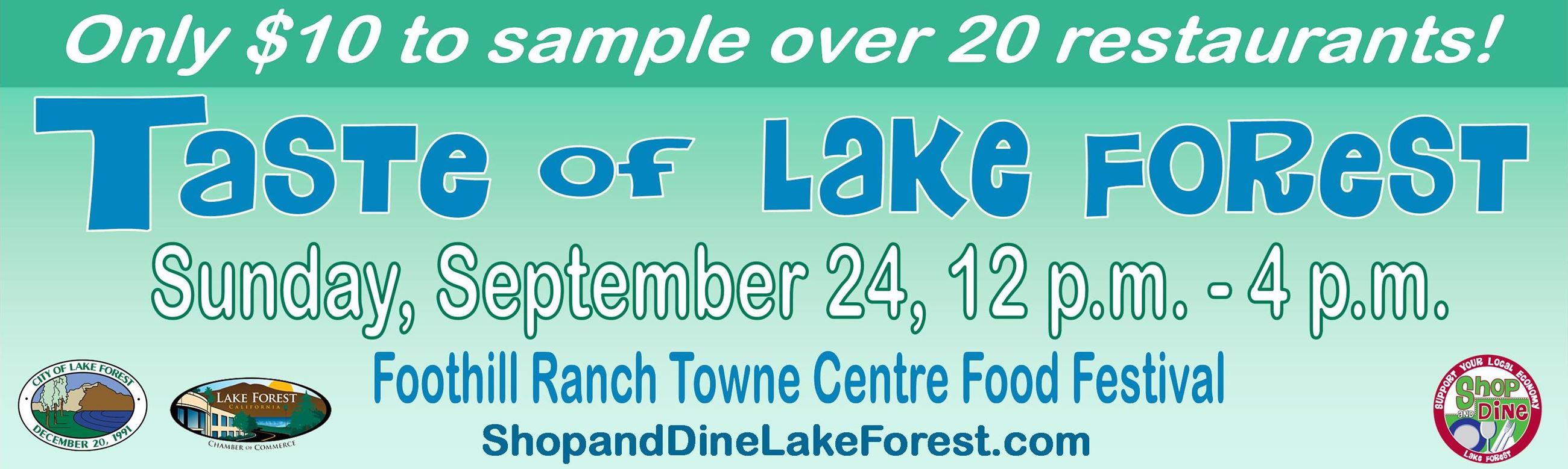 Taste of Lake Forest Banner