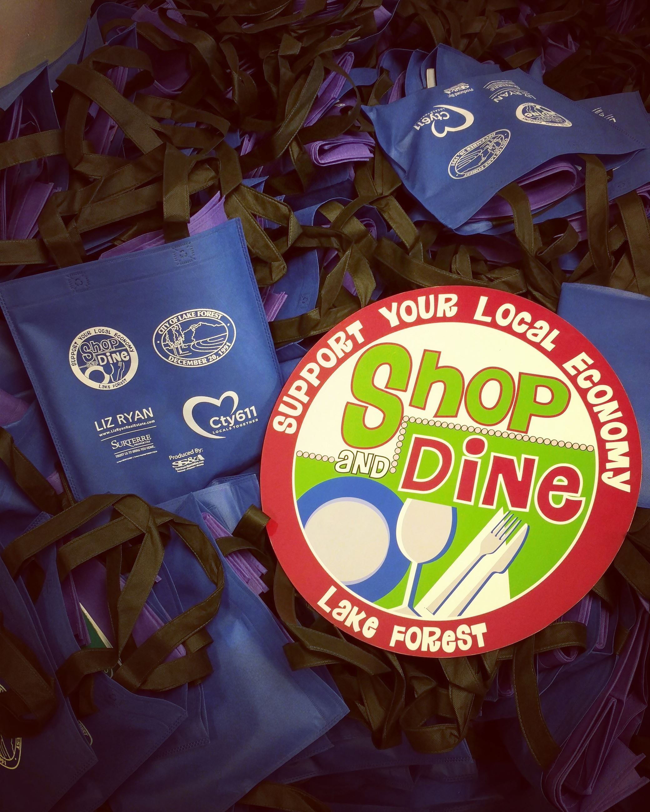 Shop and Dine Bag Stuffing