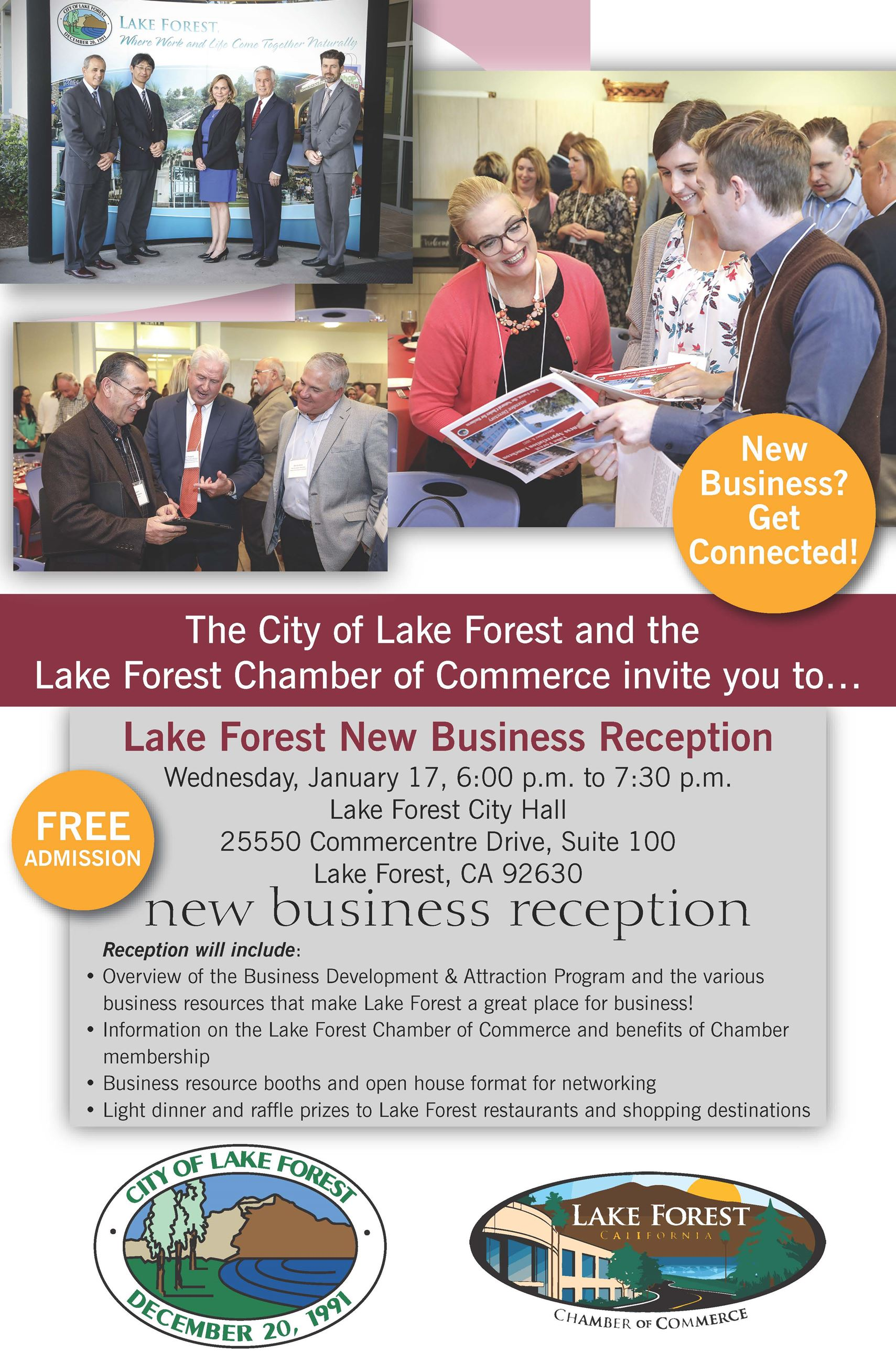 2018 New Business Reception Flyer