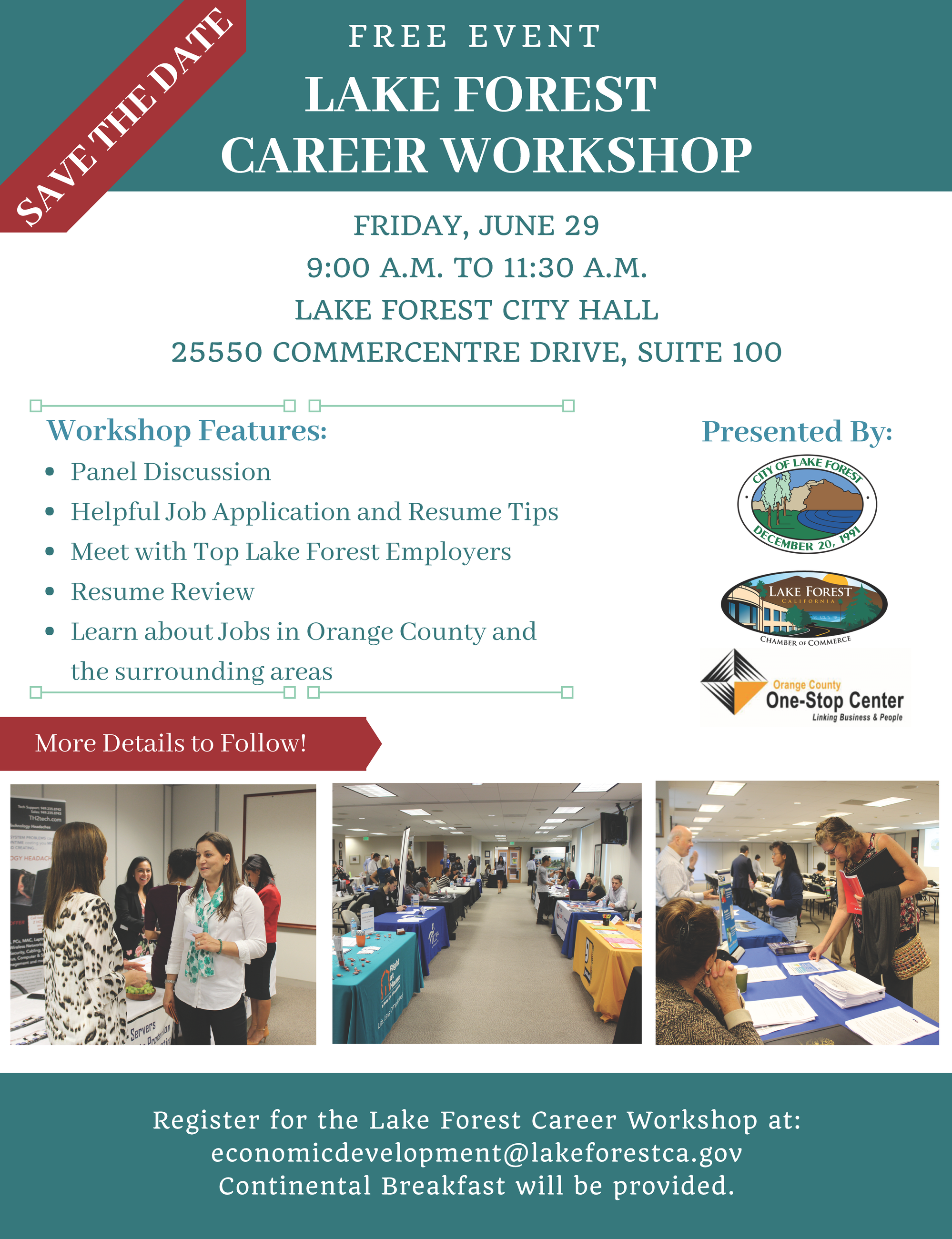 Lake Forest Career Workshop Flyer