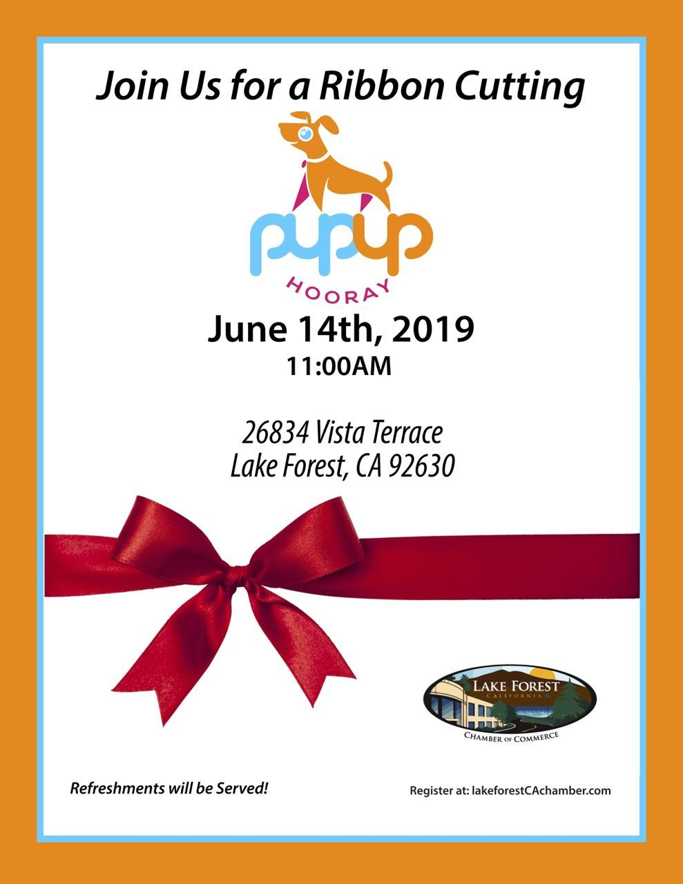 Ribbon Cutting Pup Up May 19