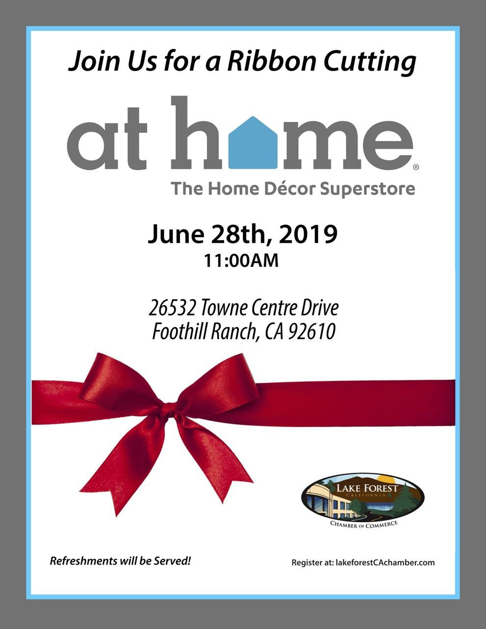 At Home Ribbon Cutting Flyer