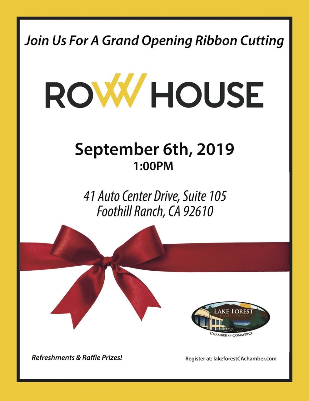 Row House Flyer
