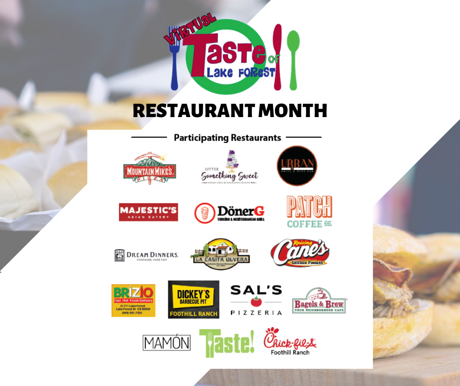 Virtual Taste of LF Participating Restaurants