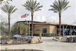 Lake Forest Sports Park Exterior Building with Palm Trees